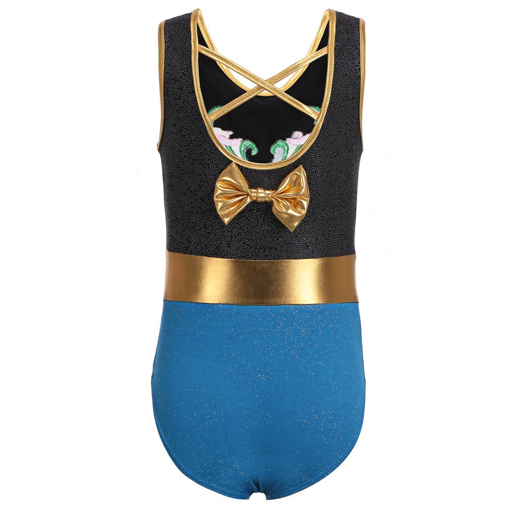 TFJH E Sparkle One-piece Dancing Gymnastics Athletic Clothes for Little Girl