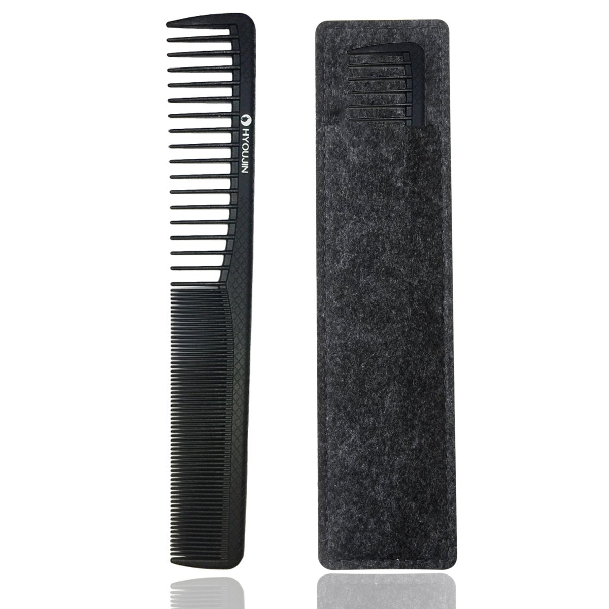 HYOUJIN 107 Matador Cutting Comb,100% Anti static 230℃(450°) Heat Resistant, best for curly hair styling or Mustache & Beard grooming