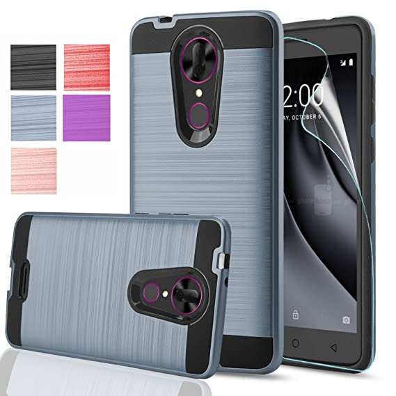 low cost 7909d 3692f Coolpad Revvl Plus Case,Revvl Plus(T-Mobile)With HD Screen Protector,Anoke  Dual Layer Heavy Duty Silicone Rubber Hybrid Shockproof Absorption ...