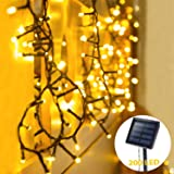 OxyLED Solar String Lights Outdoor, 72ft 200 LED Solar Led Fairy String Light Solar Powered, Decorative Lights Waterproof for Garden, Patio, Home, Wedding, Party, Halloween, Christmas (Warm White)