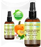 "ORGANIC PUMPKIN SEED OIL Australian. 100% Pure / Natural / Undiluted /Unrefined Cold Pressed Carrier oil. 1 Fl.oz.- 30 ml. For Skin, Hair, Lip and Nail Care. ""One of the richest sources of enzymes, fatty acids, iron, zinc, vitamins A, C, E and K""."
