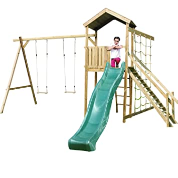Monmouth Outdoor Childrens Wooden Swing Set Climbing Frame, Toddler ...