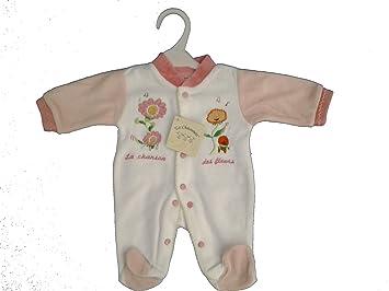 15d620325858a pyjama bébé fleurs rose et blanc naissance (0 mois)  Amazon.fr ...