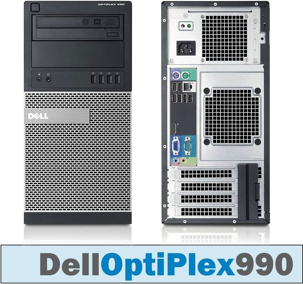 Dell OptiPlex 990 MT Core i7-2600 Quad 3.40 GHz 16GB DDR3 1TB HDD DVD-RW WINDOWS 7 PRO 64 BIT