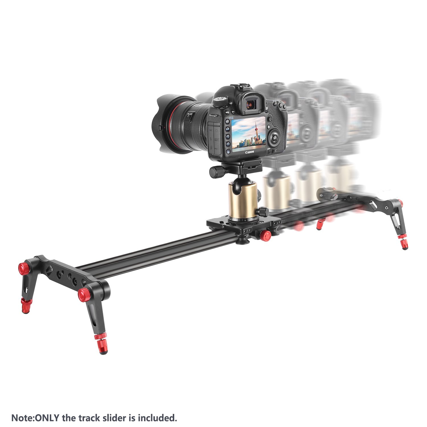 120cm Neewer Aluminum Alloy Camera Track Slider Video Stabilizer Rail with 4 Bearings for DSLR Camera DV Video Camcorder Film Photography Loads up to 17.5 pounds//8 kilograms
