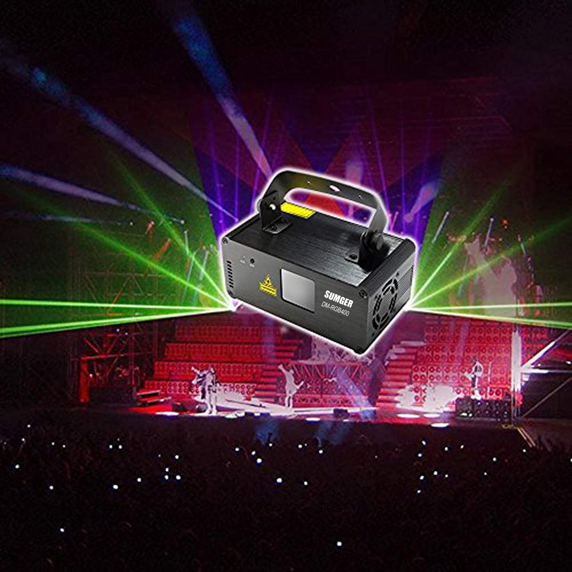 Sumger Professional DMX512 LED Stage Light RGB Laser Scanner DJ Disco Beam Stage Lighting Effect Laser Projector illumination Show Light Sound Activated with Remote for Festival Bar Club Party Wedding by Sumger