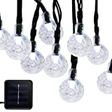 Amazon Price History for:Dcoo Solar Powered Fairy Crystal String Lights for Outdoor Patio Lawn Landscape Garden Home Wedding Holiday and Christmas decorations[19.7feet - 6m - 30LED-White]