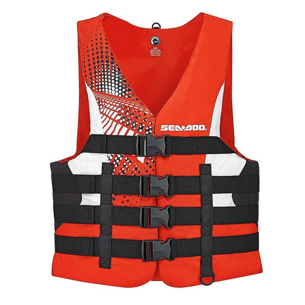 新しいBRP sea-dooメンズナイロンモーションPFDライフベストjacket-adult medium-red   B01MZ64OJI