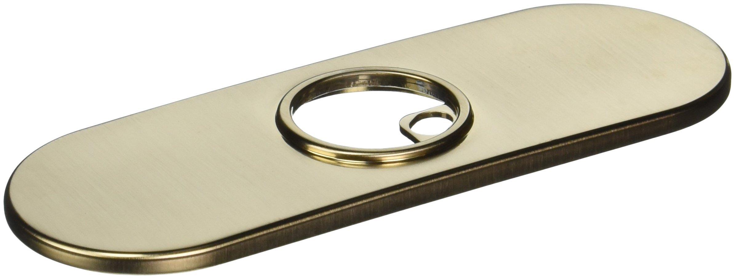Delta Faucet RP72991CZ Trinsic, Escutcheon, 3 Hole Gasket, Champagne Bronze