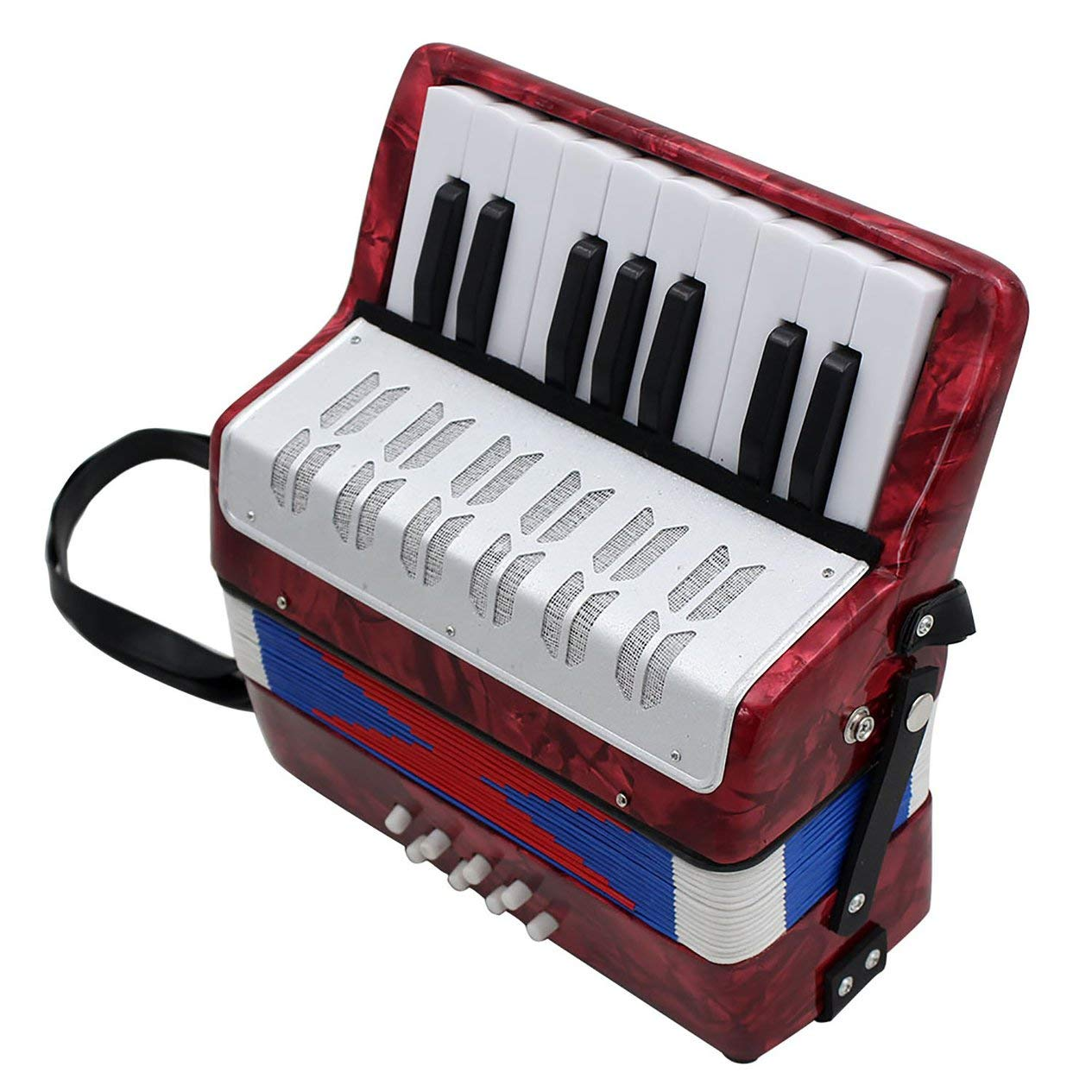 17-Key 8 Bass Accordion Musical Toy for Educational Musical Instrument Simulation Learning Concertina Rhythm by Fashinlook (Image #5)