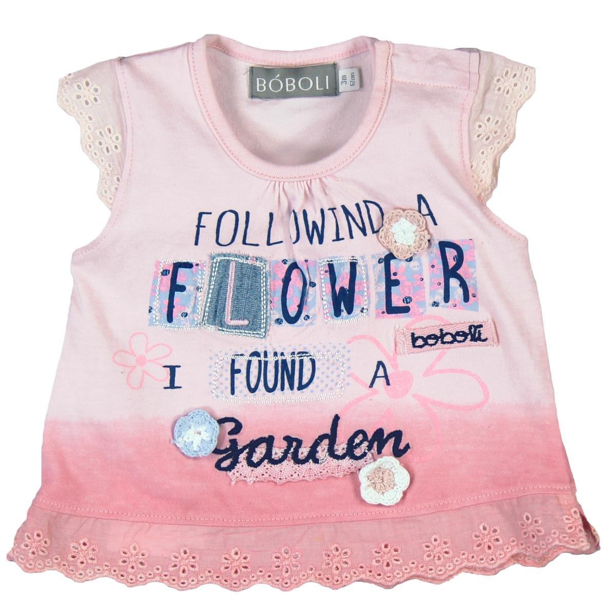 boboli Knit T-Shirt For Baby Girl, Camiseta para Bebés Bóboli
