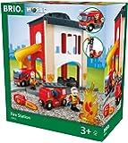 BRIO World 33833 - Große Feuerwehr Station mit Einsatzfahrzeug, bunt