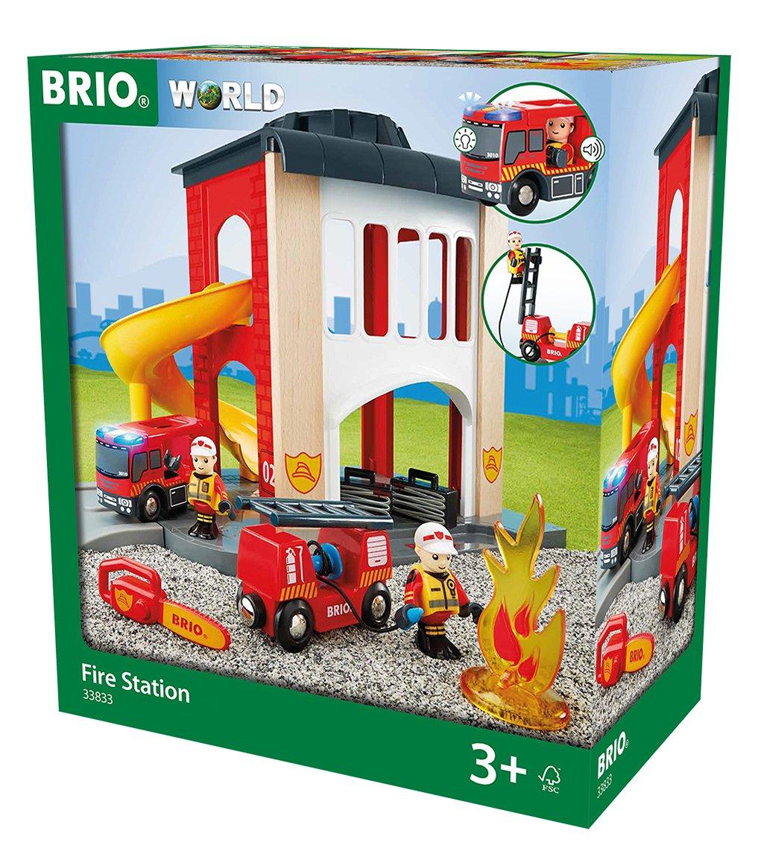 Feuerwehrstation Holz - BRIO große Feuerwehr Station