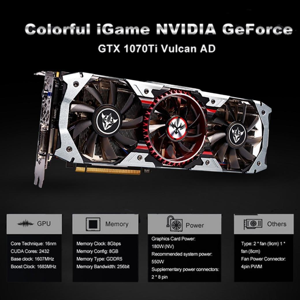 Tarjeta gráfica 1070ti GTX 8 GB, vneirw Colorful iGame GTX ...