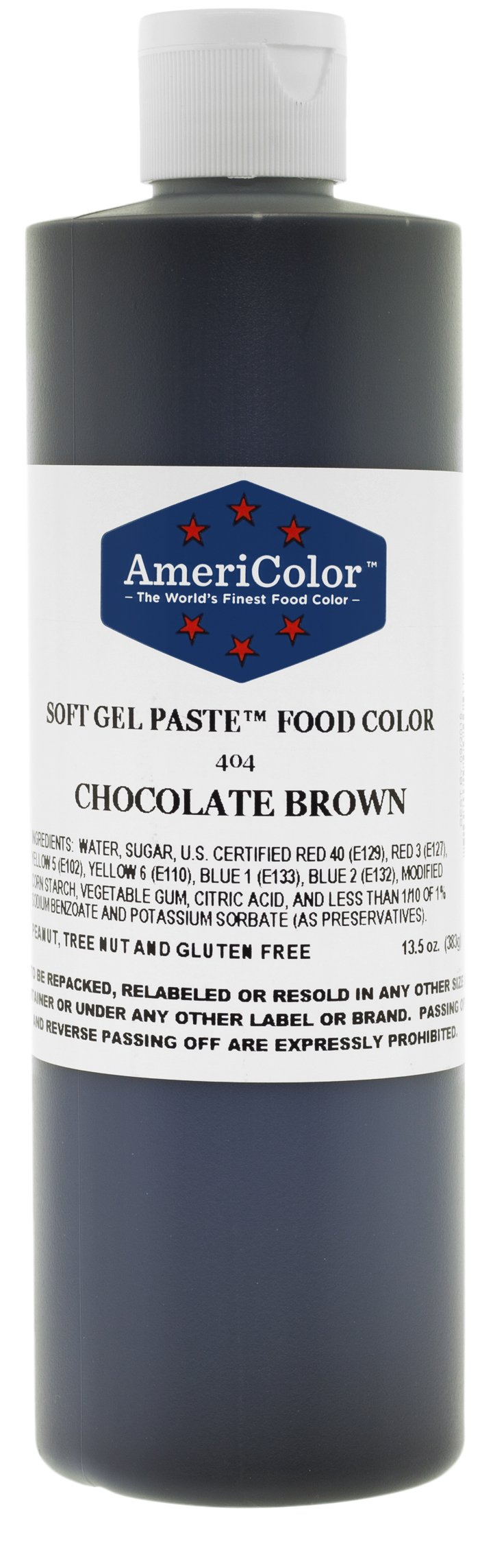 Americolor Soft Gel Paste Food Color, 13.5-Ounce, Chocolate Brown