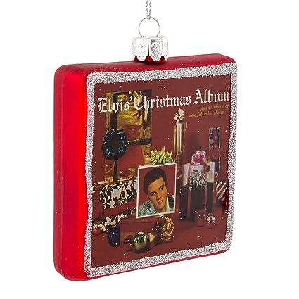 kurt adler 325elvis christmas album glass ornament