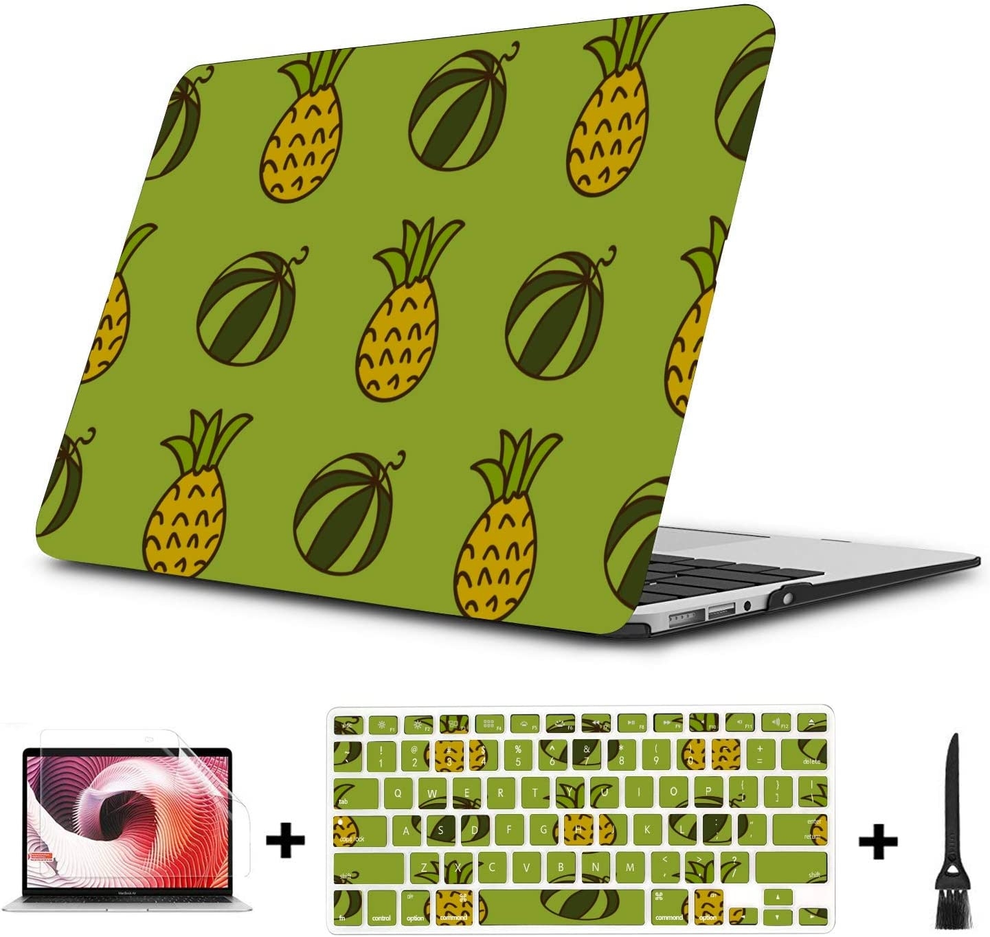 Mac Computer Case Summer Fashion Cute Fruit Watermelon Plastic Hard Shell Compatible Mac Air 11 Pro 13 15 MacBook Pro Hard Cover Protection for MacBook 2016-2019 Version