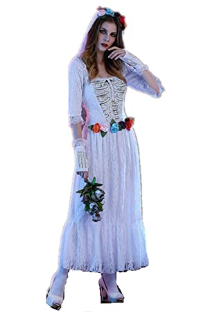 c14d2e66e Kenmont Disfraces de Halloween Mujer Novia Zombie Traje Fantasma Cosplay  Vestidos Fiesta Carnaval Novedad Ropa De