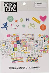 Carpe Diem by Simple Stories Fitness Sticker Tablet