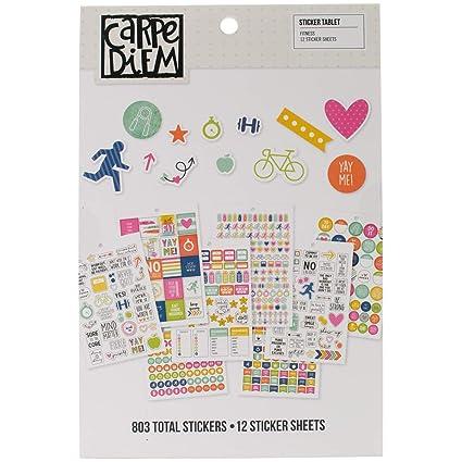 20.9 x 14 x 0.4 cm Simple Stories Recipe Sticker Tablet Paper Multicoloured