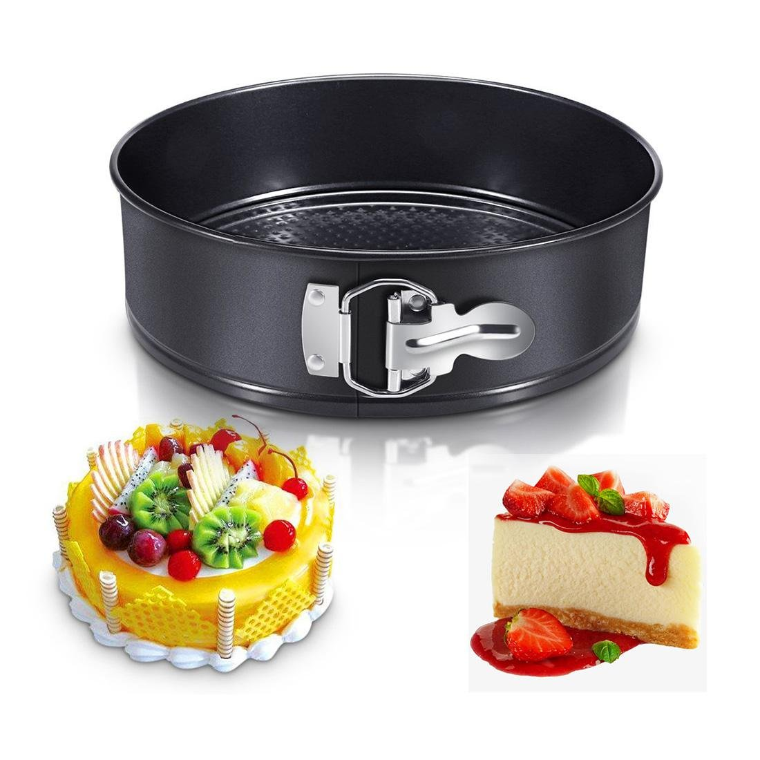 9inch Springform Pan, Aolvo Non-stick Cheesecake Pan Springform Pan with Removable Bottom, Leakproof Cake Pan Bakeware