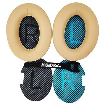 Misodiko - Almohadillas de Repuesto para Auriculares Bose QuietComfort 35 25 2 15 / QC35 QC25