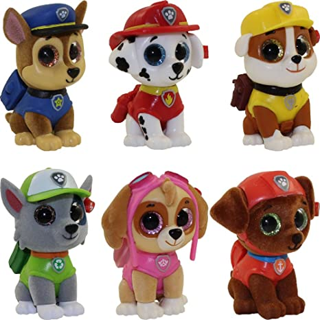 Amazon.com  TY Mini Boo Figures - PAW PATROL - Complete set of 6 ... 87137c05af3