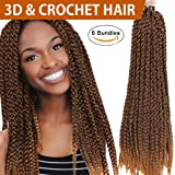 "FASHION IDOL 6 Bundles 18"" Synthetic 3D Cubic Twist Crochet Braids"