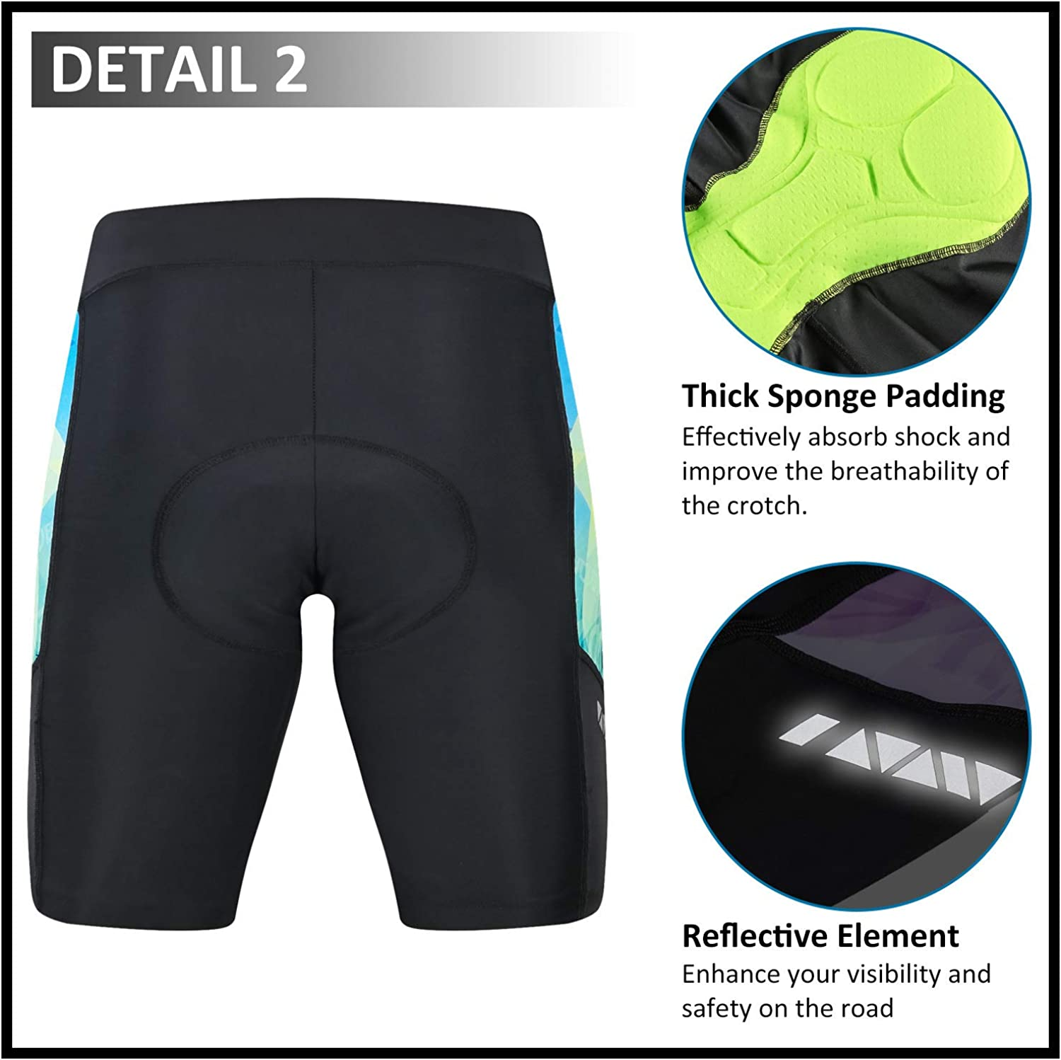 MUCUBAL Womens Bike Shorts with 3D Padded Compression Bicycle Shorts for Cycling,Spinning,Road Bike