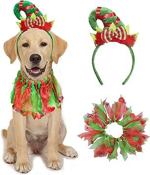 Amazon.com: BWOGUE - Collar de Navidad para perro con ...