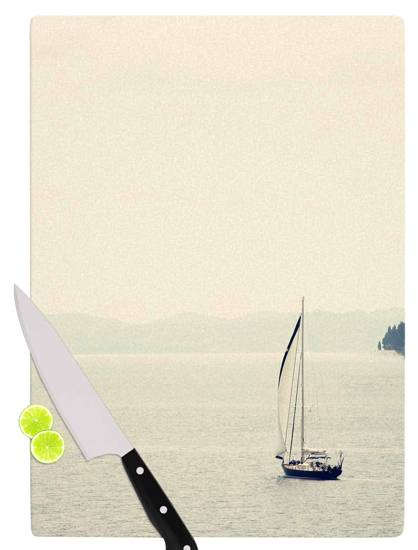 Multicolor KESS InHouse SC4075ACB01 Sylvia CoomesHazy Sea Blue Travel Cutting Board 11.5 x 8.25