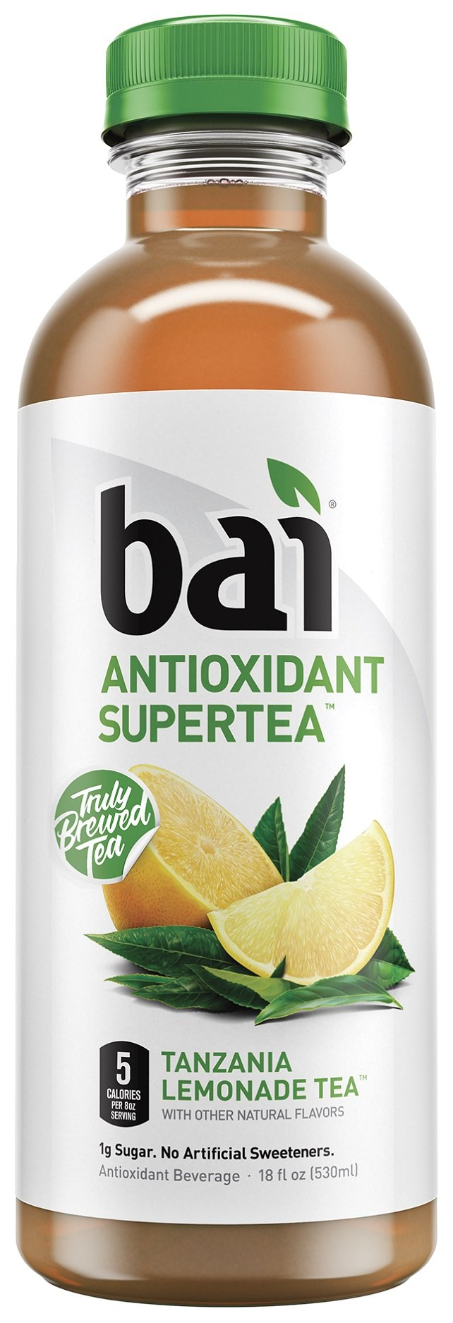 Bai Tanzania Lemonade Tea, Antioxidant Infused Supertea, 18 Fluid Ounce Bottles, 12 count