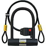 SIGTUNA Bike lock - 16mm Heavy Duty Bicycle Lock with U Lock Shackle and Mounting Bracket + 1200mm Steel Flex Cable Lock