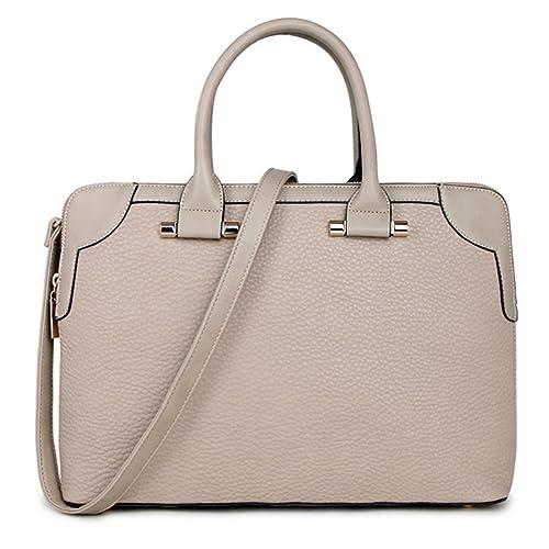da3759aa00b3 Womens Work Shoulder Bag Office College Bag Laptop Briefcase (MH481-1 Beige)