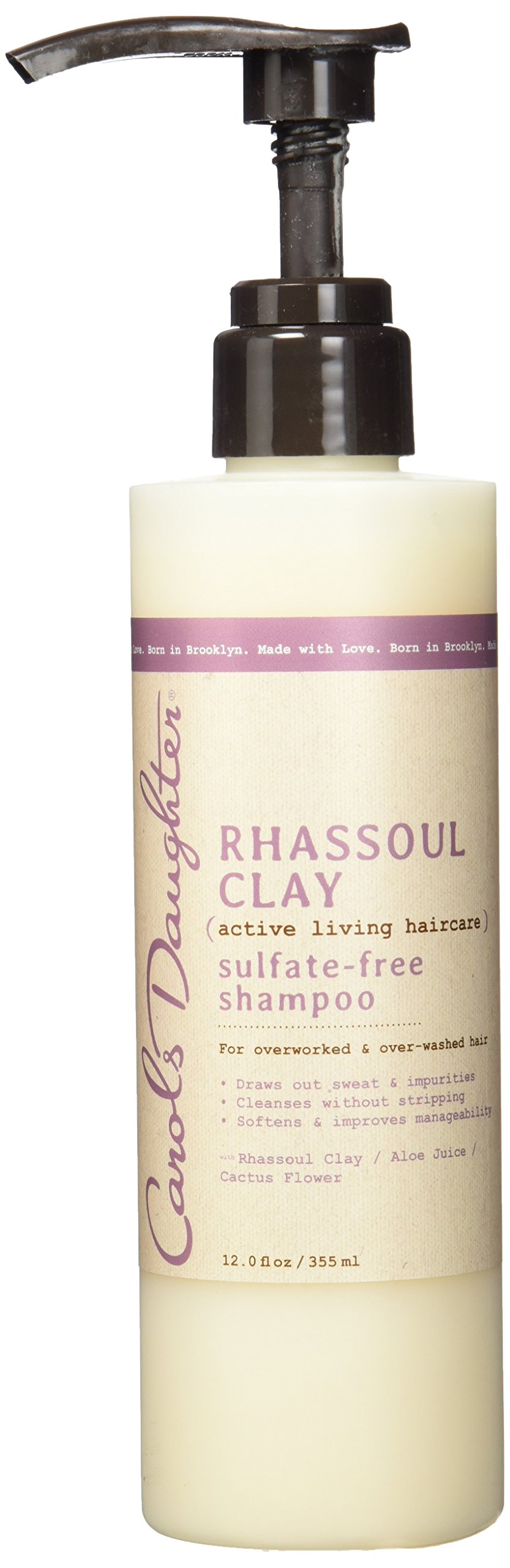 Carol's Daughter Rhassoul Clay Sulfate-Free Shampoo, For Overworked & Over-Washed Hair, 12 fl oz (Packaging May Vary)