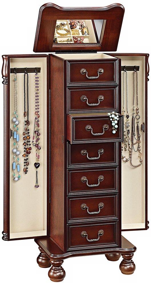 Amazoncom Acme 97006 Lopez Jewelry Armoire Cherry Finish Kitchen