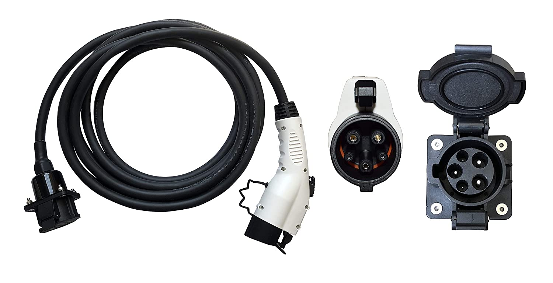 EV EVSE PHEV 充電器 延長ケーブル 電気自動車充電器 延長ケーブル レベル2 32A 6.1 メートル SAE J1772電気自動車車の充電器 延長ケーブル B07G2WY14P