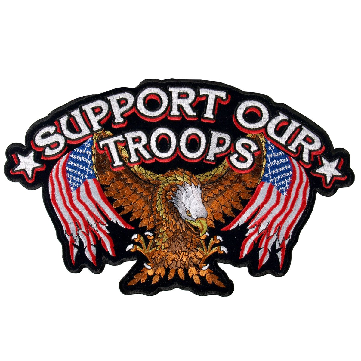 Hot Leathers Support Our Troops Patch (4' Width x 3' Height) PPA2022