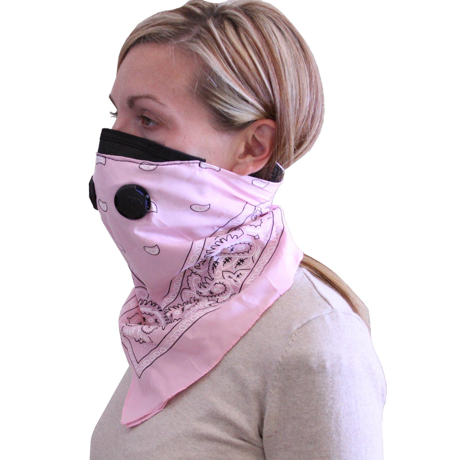 ATV Tek Dust Mask Bandana (Pink, Universal/X-Large)