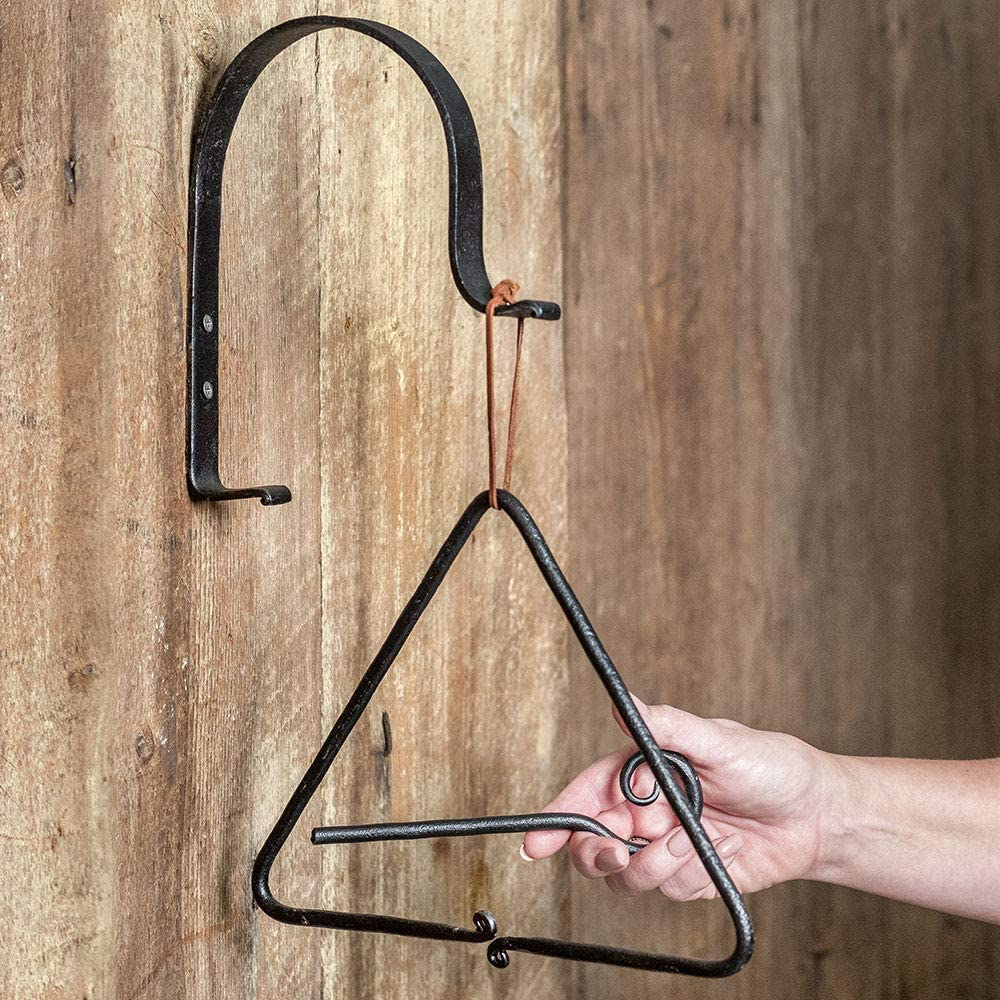 CTW Home Collection Triangle Dinner Bell with Bracket