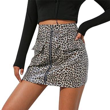 Lenfesh_Vestidos Falda para Mujer, Lenfesh Falda Leopardo de Mujer ...