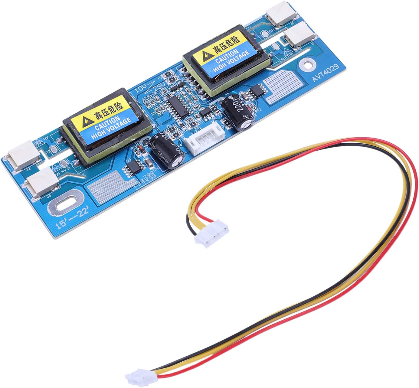 REFURBISHHOUSE Avt4029 Universal Inverter Ersatz Ccfl Inverter LCD Monitor 4 Lampe 10-29V f/ür 15-22 Zoll Breitbild mit 6Pin Kabel