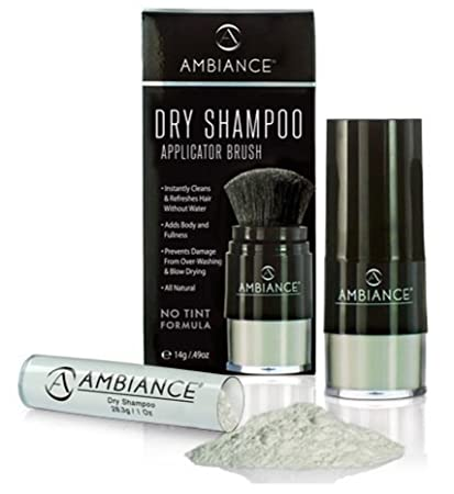 366a6ea31425 Ambiance Dry Shampoo (No Tint/Gray Hair Formula) Value Pack - All-Natural,  Volumizing Powder...