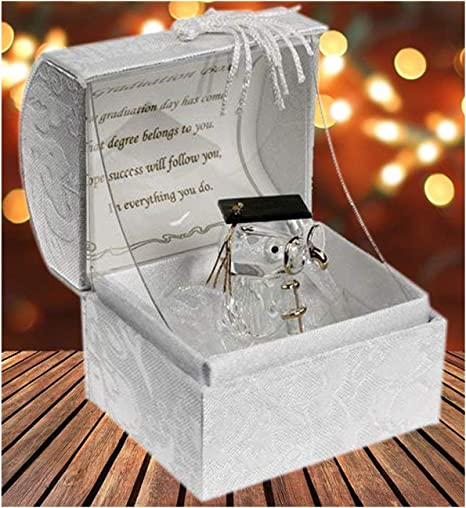 Cristal Búho En Caja De Mensaje de recuerdo de graduación regalo presente regalo de graduación: Amazon.es: Hogar