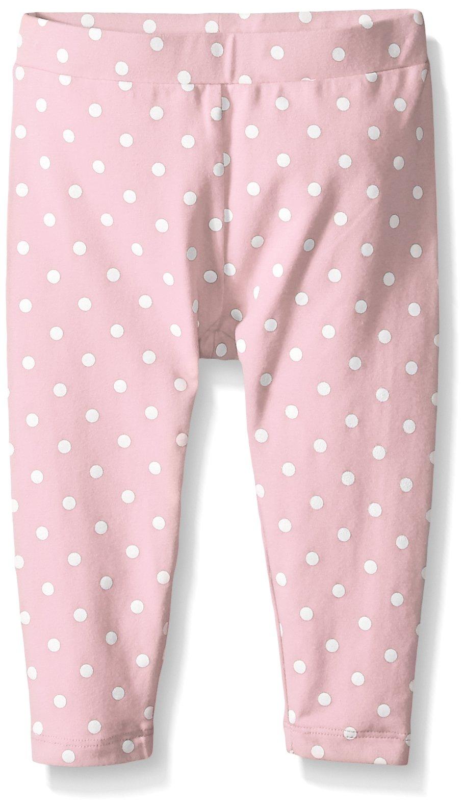 Scout + Ro Big Girls' Printed-Dot Jersey Capri Pant, Gossamer Pink, 10