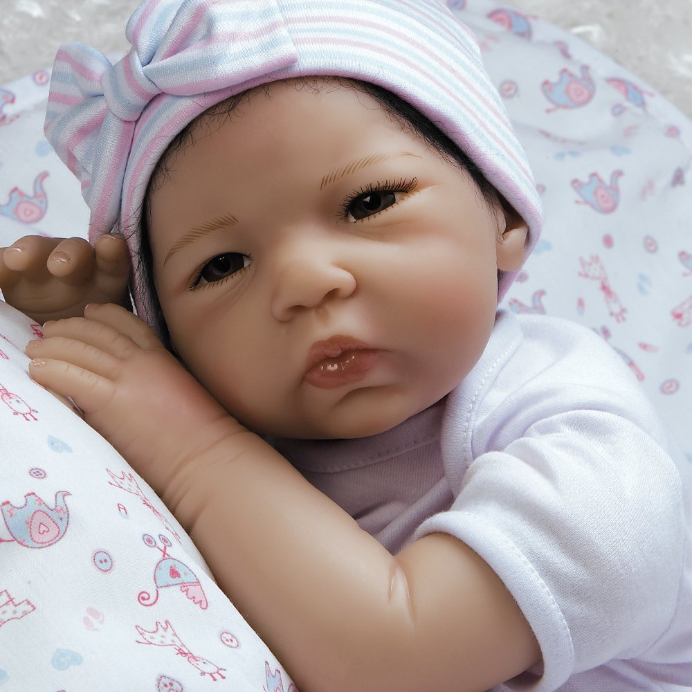 5-Piece Set 21009100 Paradise Galleries Reborn Asian Baby Girl Doll Nischi 21 inch in Realistic GentleTouch Vinyl /& Weighted Body