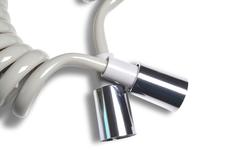 estensibile da 40 cm a 175 cm Bidet//Shattaf. SIVOSS SV Tubo flessibile in grigio pratico e salvaspazio Antwist impedisce la torsione del tubo nessun fastidioso tubo in strada