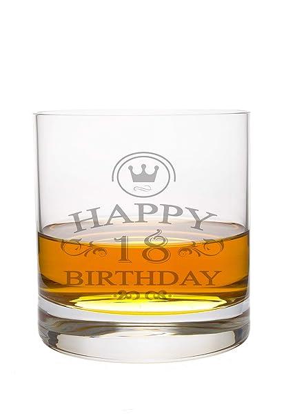 Whiskeyglas Leonardo mit 18 Jahre Gravur - Geburtstag Geschenk Geschenkidee  Whisky-Glas graviert
