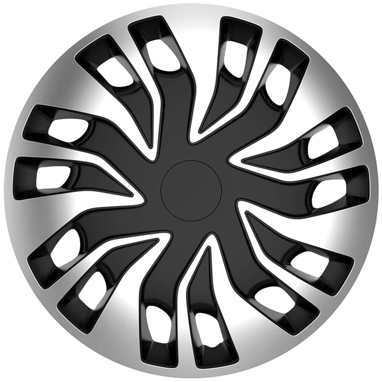 Original Faro Juego de 4 Negro Plata Bicolor Juego de 4 x 16 pulgadas (40,64) Tapacubos - Tapacubos Tapacubos de Rueda - Rueda Tapa hauben Llanta paneles ...