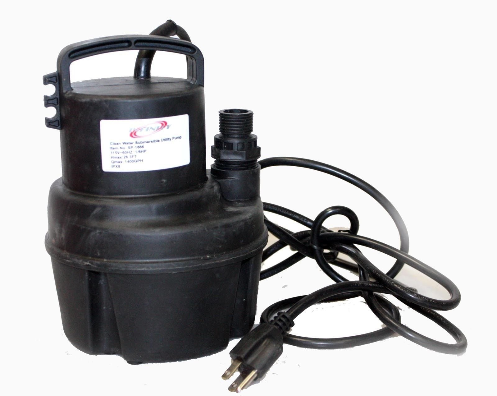 Utility 1/6 HP Clean Water Submersible Sub Sump Pump Flood Drain Pool Waterfall By Allgoodsdelight365 by allgoodsdelight365